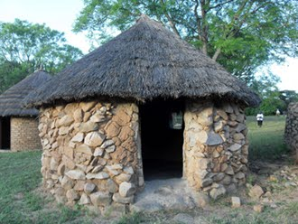 Arthur Cripps simple hut in Africa