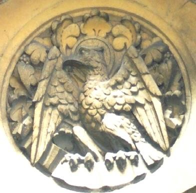 Carving of eagle