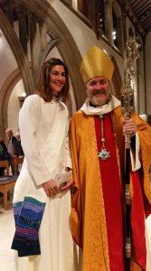 Revd Jackie - newly ordained Deacon
